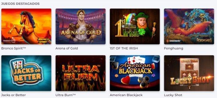 Betfun casino: juegos disponibles